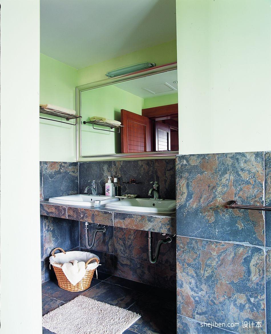 2018精选123平米混搭别墅卫生间装修实景图卫生间潮流混搭卫生间设计图片赏析
