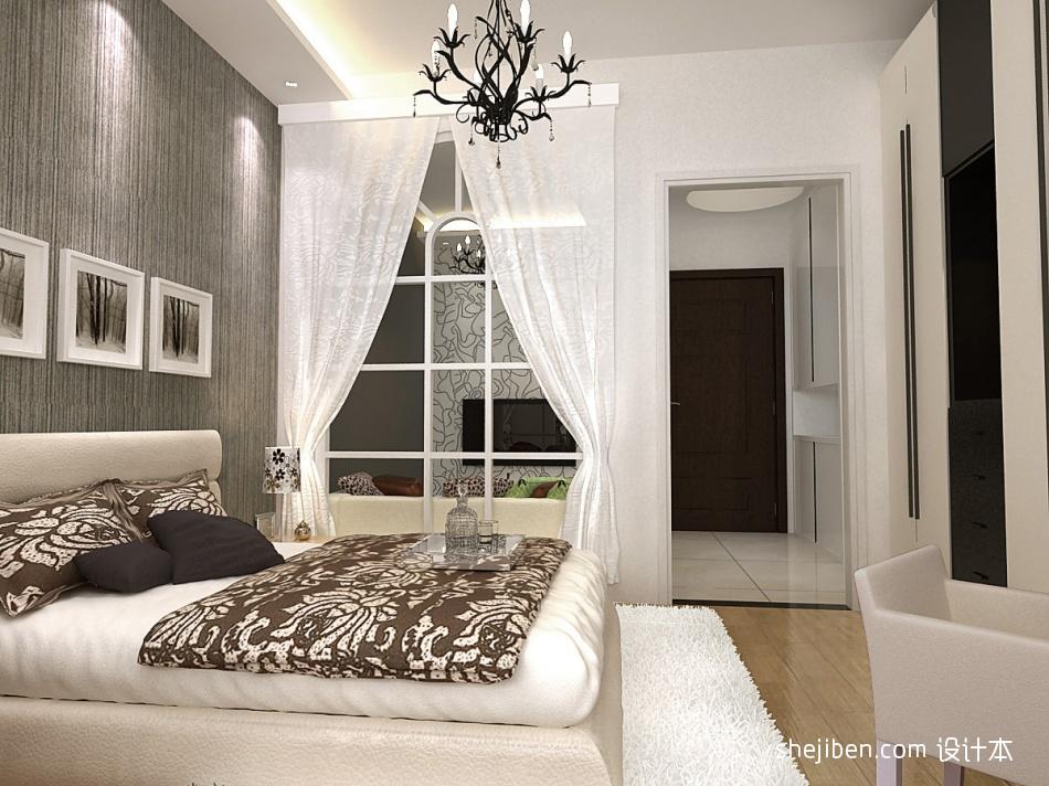 平混搭样板间卧室设计案例卧室潮流混搭卧室设计图片赏析