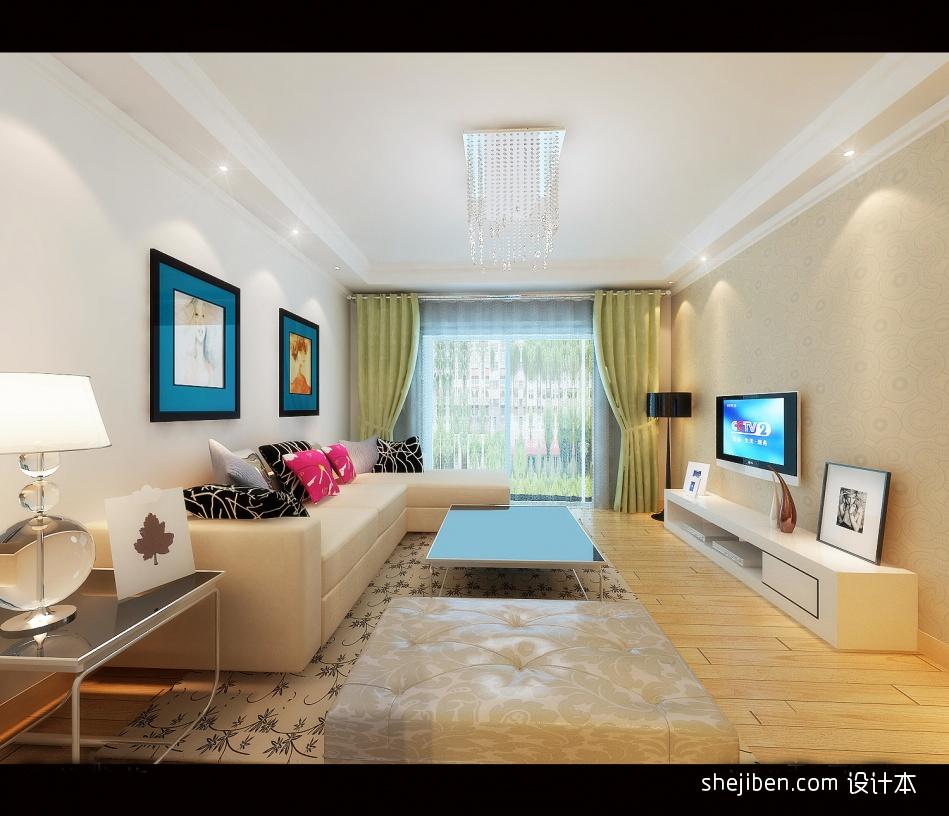 轻奢54平混搭二居客厅装修装饰图客厅潮流混搭客厅设计图片赏析