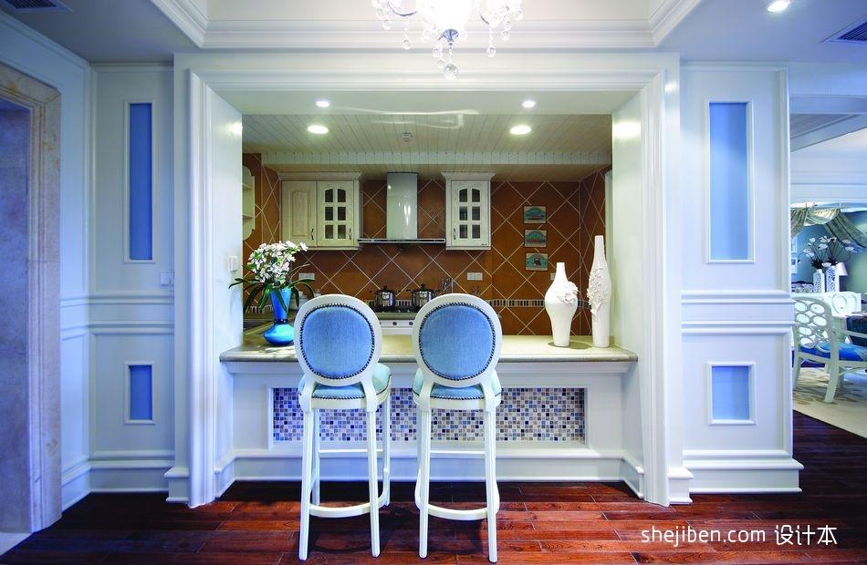 2017新古典风格别墅厨房时尚高档吧台装修效果图片其他设计图片赏析