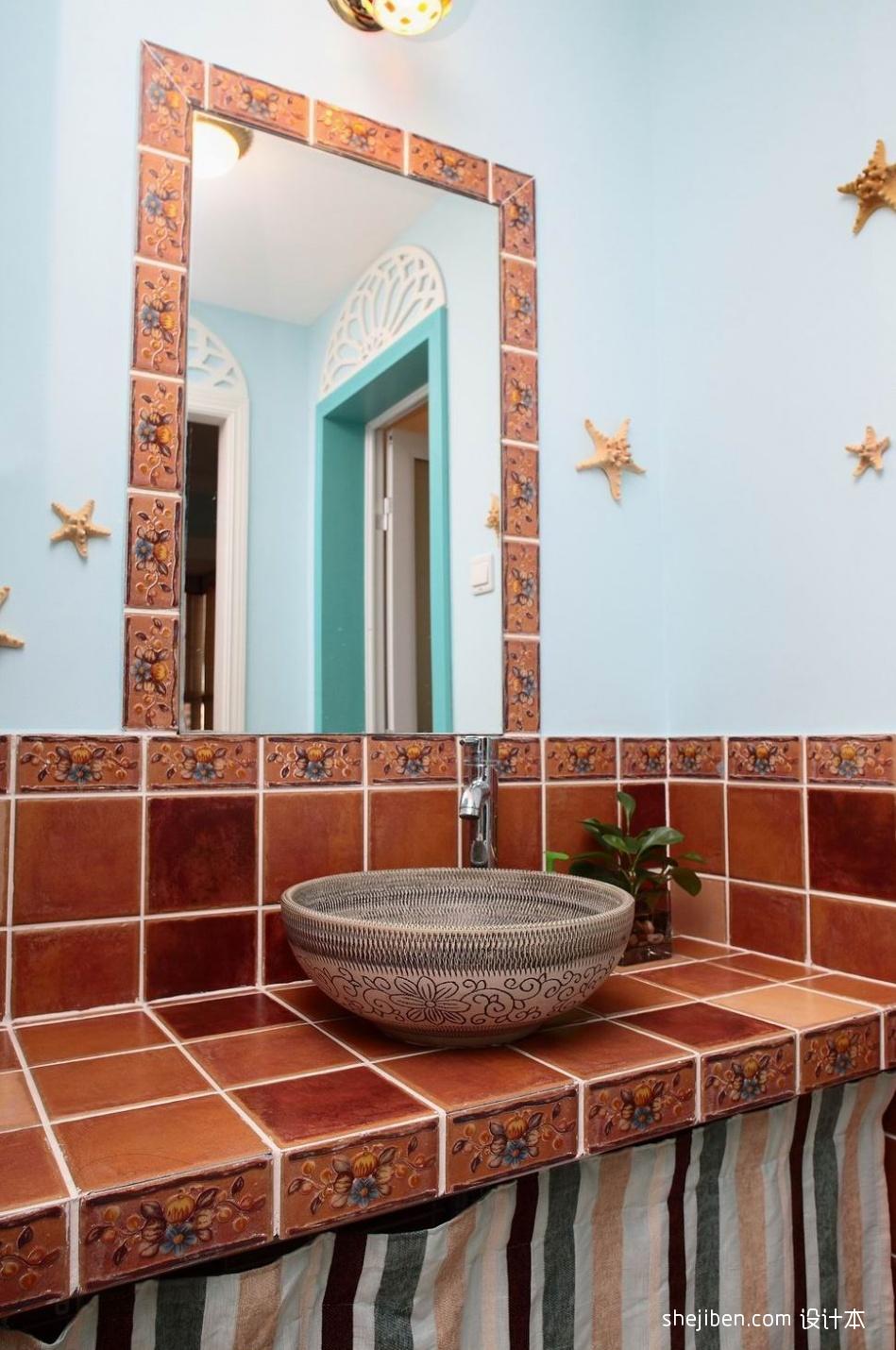 优雅70平混搭二居卫生间装修案例卫生间潮流混搭卫生间设计图片赏析