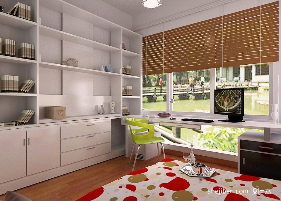 书房兼卧室客厅潮流混搭客厅设计图片赏析