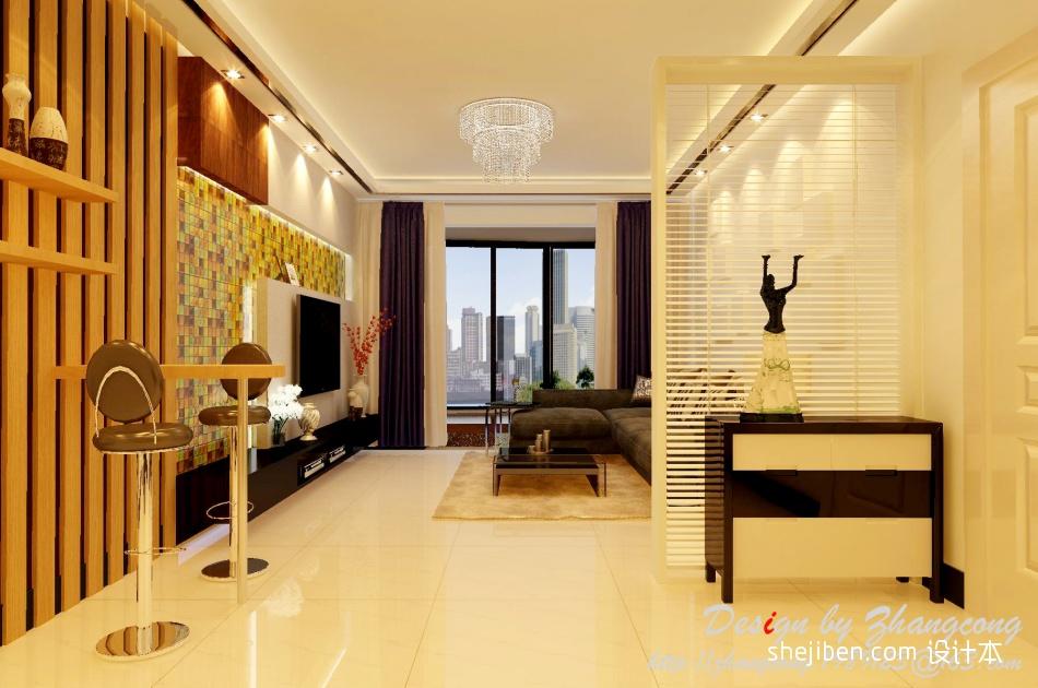 108.9平混搭客厅设计效果图客厅潮流混搭客厅设计图片赏析