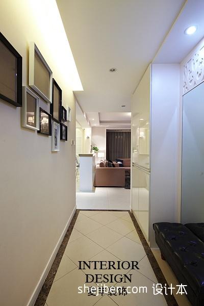 2013现代风格三室一厅家居客厅过道隔断地面拼花装修效果图功能区潮流混搭功能区设计图片赏析