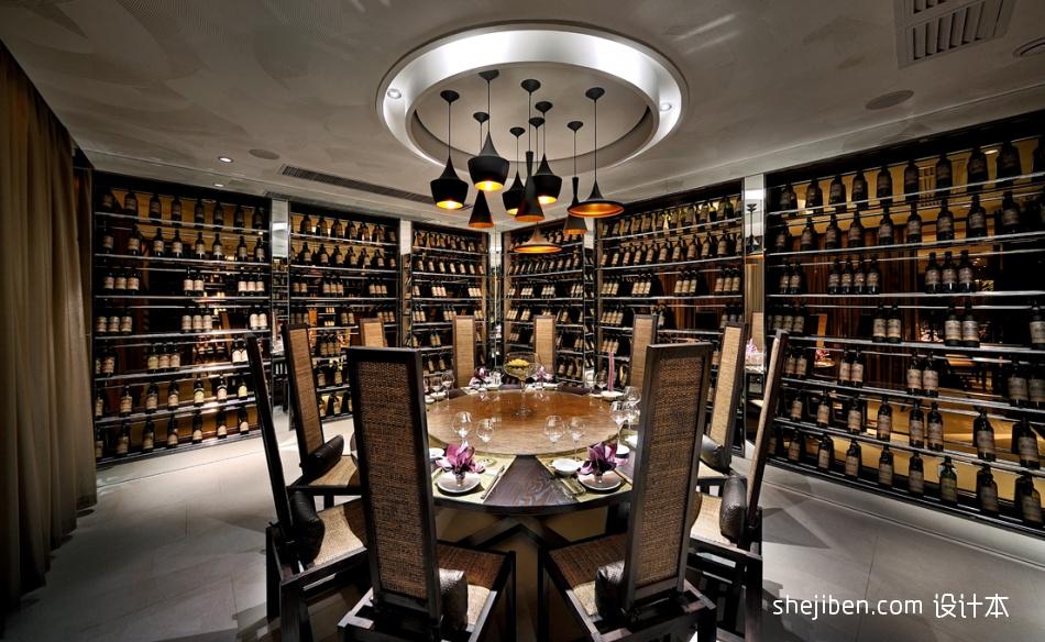 中式时尚奢华别墅酒窖吊灯设计装修效果图餐饮空间其他设计图片赏析
