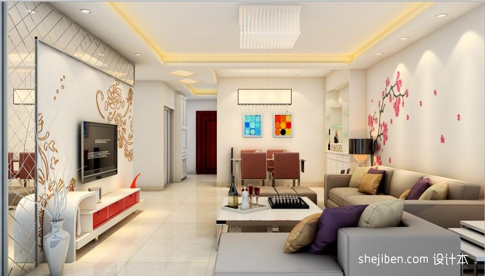 客厅未PS客厅潮流混搭客厅设计图片赏析