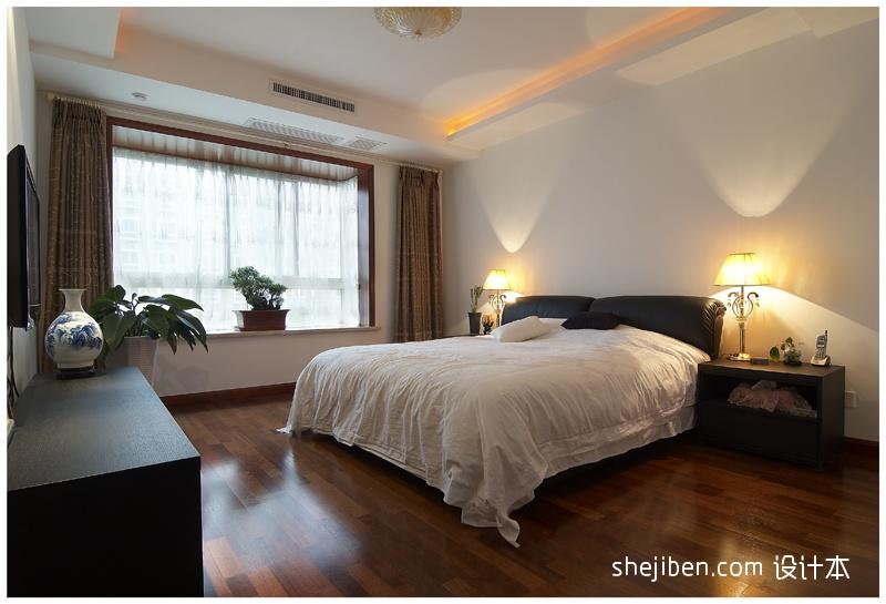 面积108平中式三居卧室装饰图片卧室中式现代卧室设计图片赏析