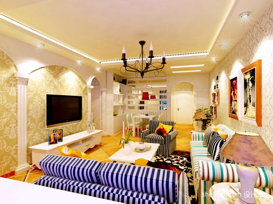 法国地中海风格客厅装修效果图大全客厅潮流混搭客厅设计图片赏析