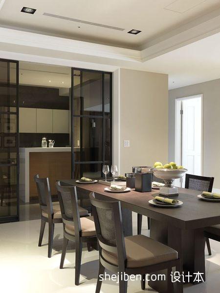 热门102平方三居餐厅混搭装修设计效果图片厨房潮流混搭餐厅设计图片赏析