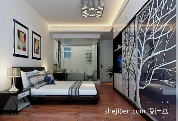 平方三居卧室混搭装饰图卧室潮流混搭卧室设计图片赏析