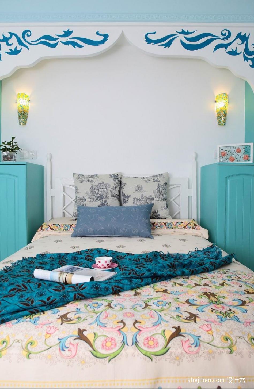 热门面积90平混搭二居卧室装修实景图片卧室潮流混搭卧室设计图片赏析