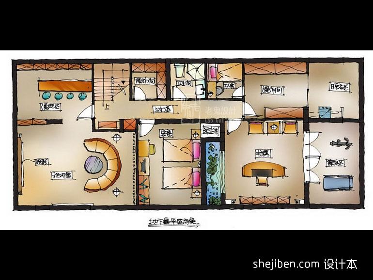 简洁422平混搭别墅客厅装修图客厅潮流混搭客厅设计图片赏析