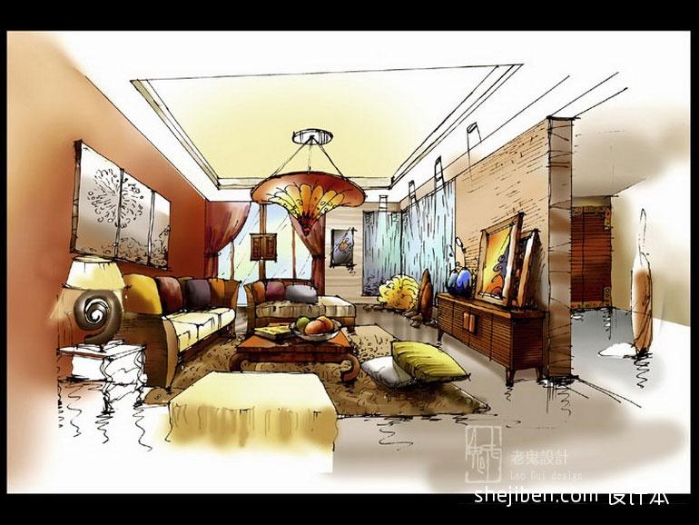 优美560平混搭别墅客厅效果图客厅潮流混搭客厅设计图片赏析