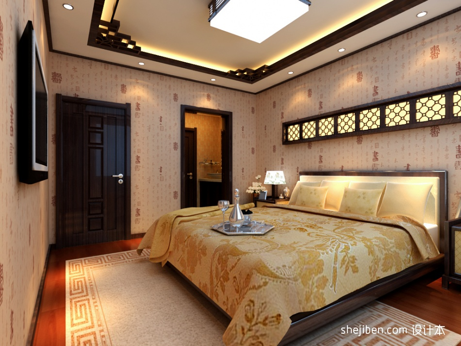 华丽111平混搭三居卧室设计图卧室潮流混搭卧室设计图片赏析