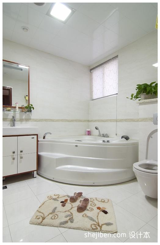 精美107平米三居卫生间中式实景图片欣赏卫生间中式现代卫生间设计图片赏析