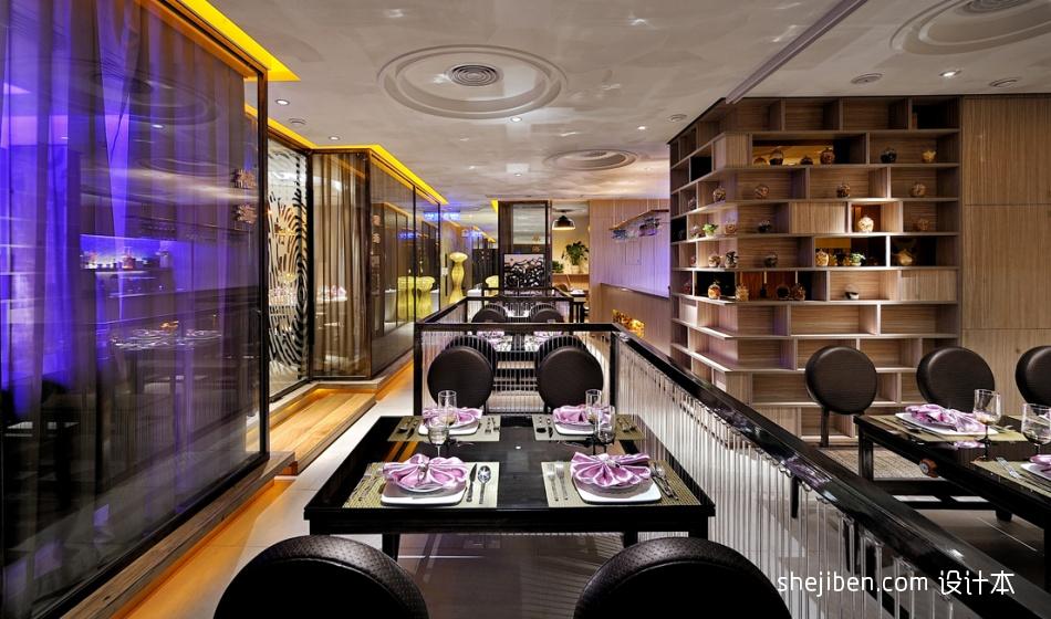 中式时尚大厅吊顶效果图餐饮空间其他设计图片赏析