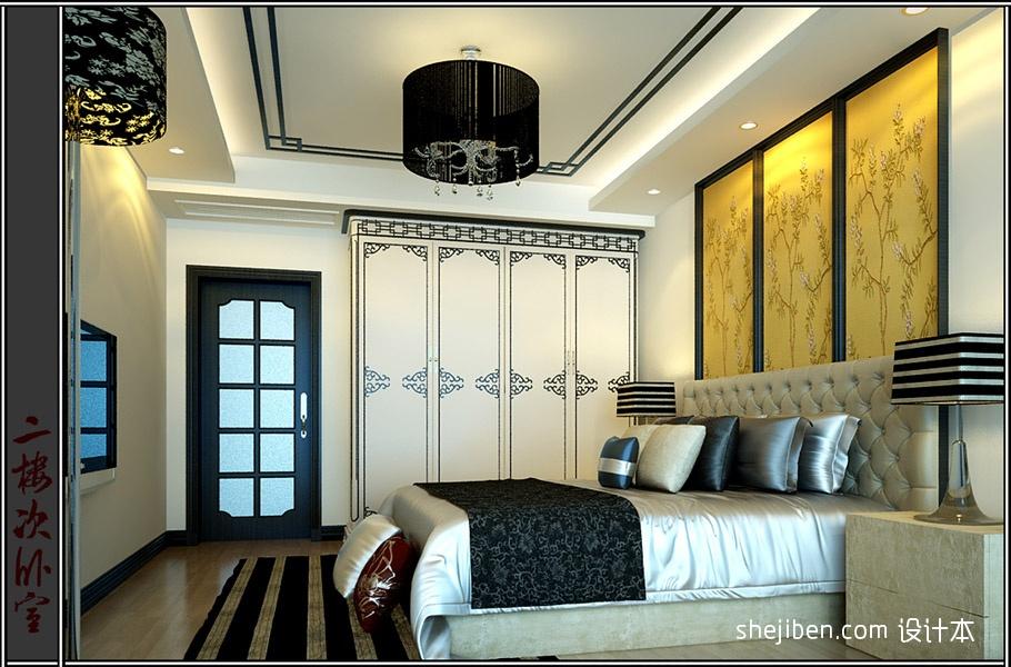 热门129平米混搭别墅卧室装饰图卧室潮流混搭卧室设计图片赏析