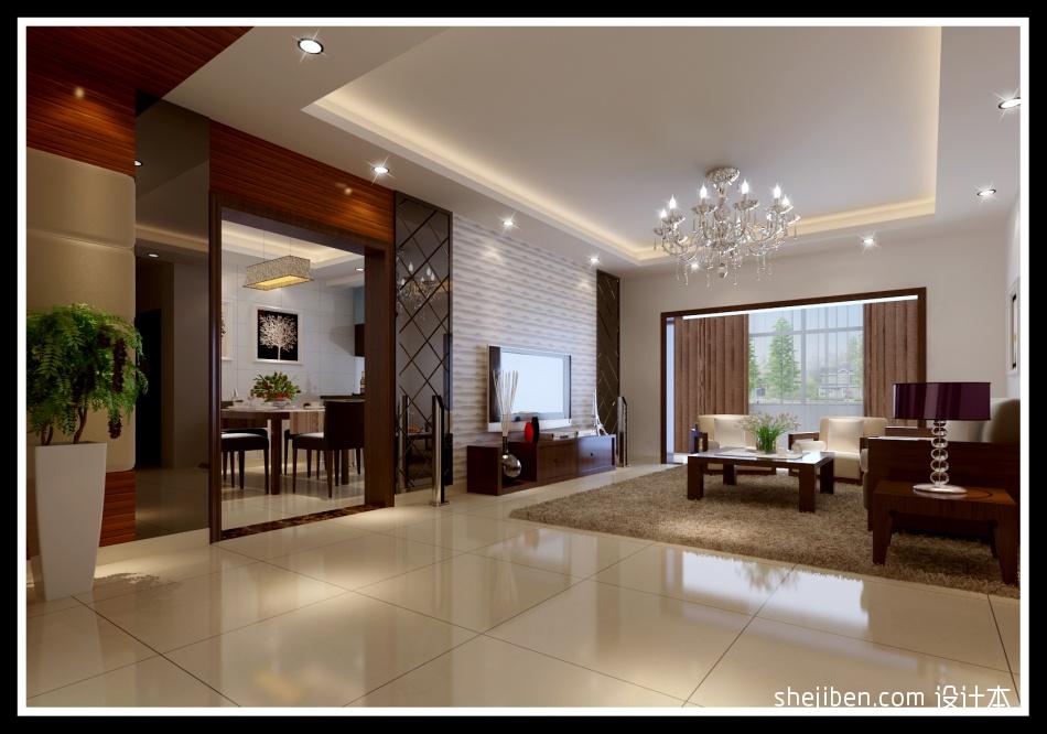 质朴104平混搭三居客厅装饰图客厅潮流混搭客厅设计图片赏析