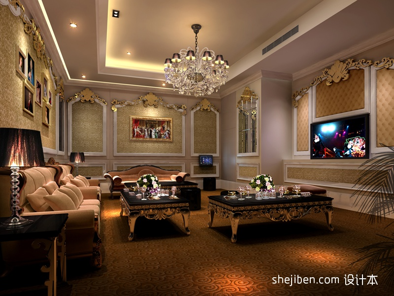 欧式ktv装修装饰效果图酒店空间其他设计图片赏析