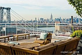 热门面积120平复式阳台现代装修效果图