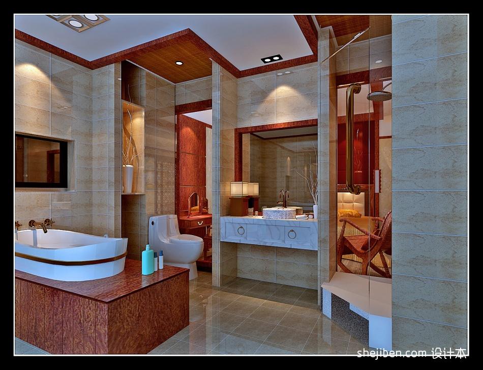 套房一卫生间样板酒店空间其他设计图片赏析