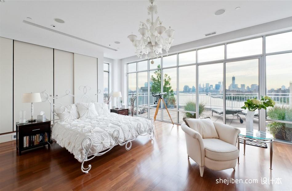 现代复式卧室装修实景图片大全卧室现代简约卧室设计图片赏析