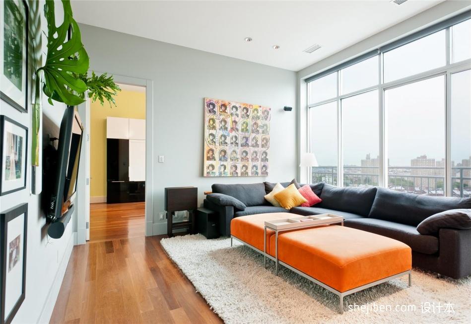 现代简约风格小客厅装修效果图客厅现代简约客厅设计图片赏析