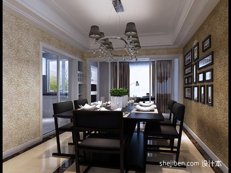 华丽85平混搭三居餐厅设计图厨房潮流混搭餐厅设计图片赏析