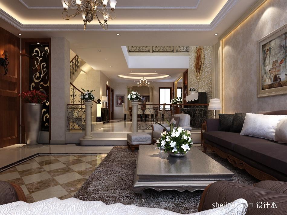 轻奢230平混搭别墅客厅实拍图客厅潮流混搭客厅设计图片赏析