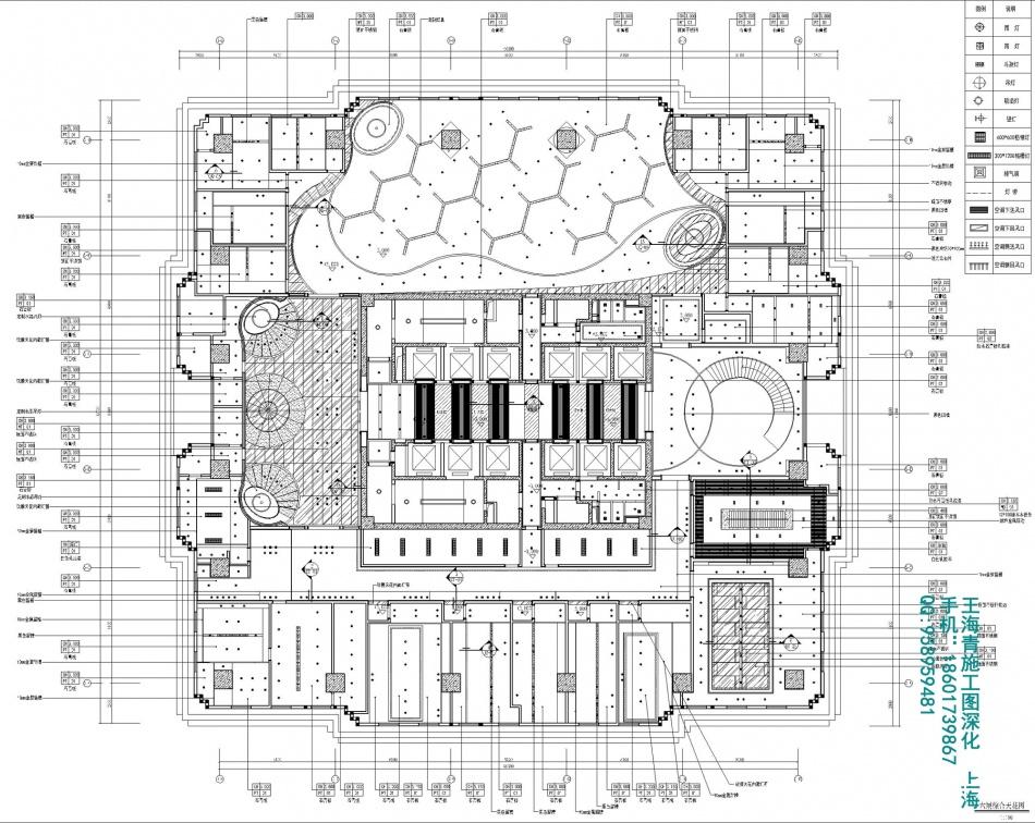王海青施工图办公空间设计图片赏析