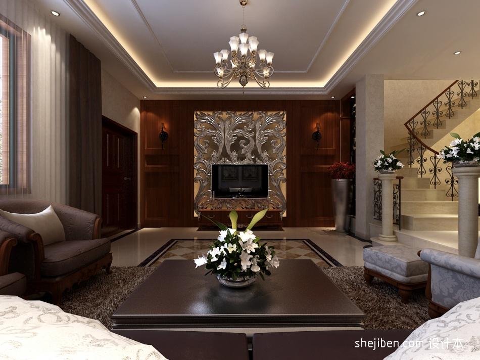 精美792平混搭别墅客厅效果图欣赏客厅潮流混搭客厅设计图片赏析
