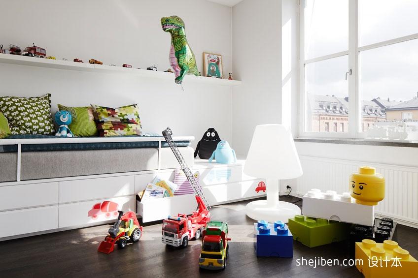 热门面积83平混搭二居儿童房装修实景图片卧室潮流混搭卧室设计图片赏析
