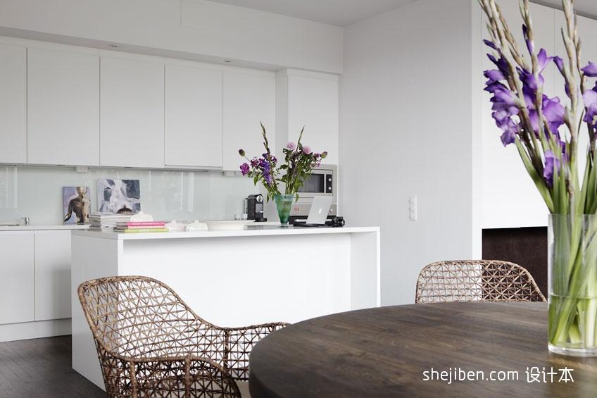 精致88平混搭二居厨房装修效果图餐厅潮流混搭厨房设计图片赏析