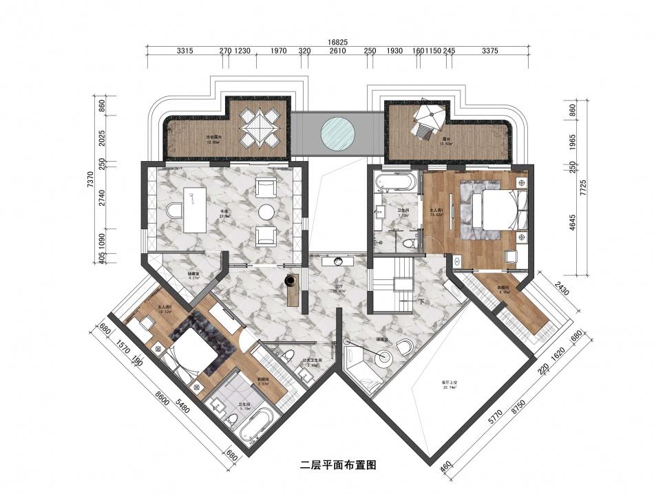 精选123平米混搭复式客厅实景图片客厅潮流混搭客厅设计图片赏析