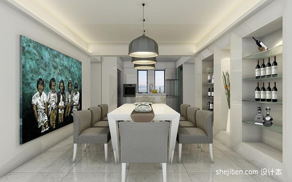 面积116平复式餐厅混搭装饰图厨房潮流混搭餐厅设计图片赏析