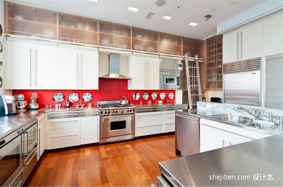 热门现代复式厨房装饰图片大全餐厅现代简约厨房设计图片赏析