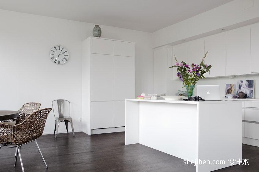 精美87平米二居厨房混搭装饰图片大全餐厅潮流混搭厨房设计图片赏析