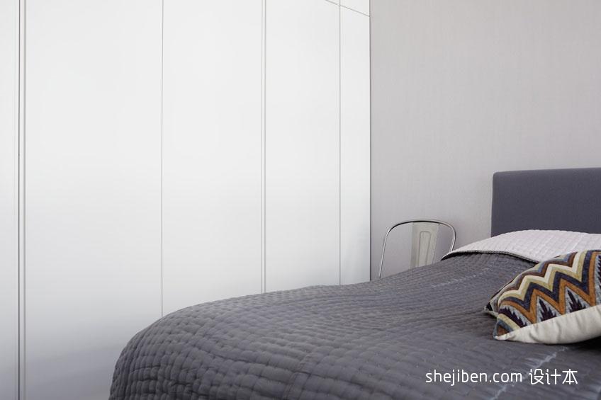 2018精选大小89平混搭二居卧室装修效果图片卧室潮流混搭卧室设计图片赏析
