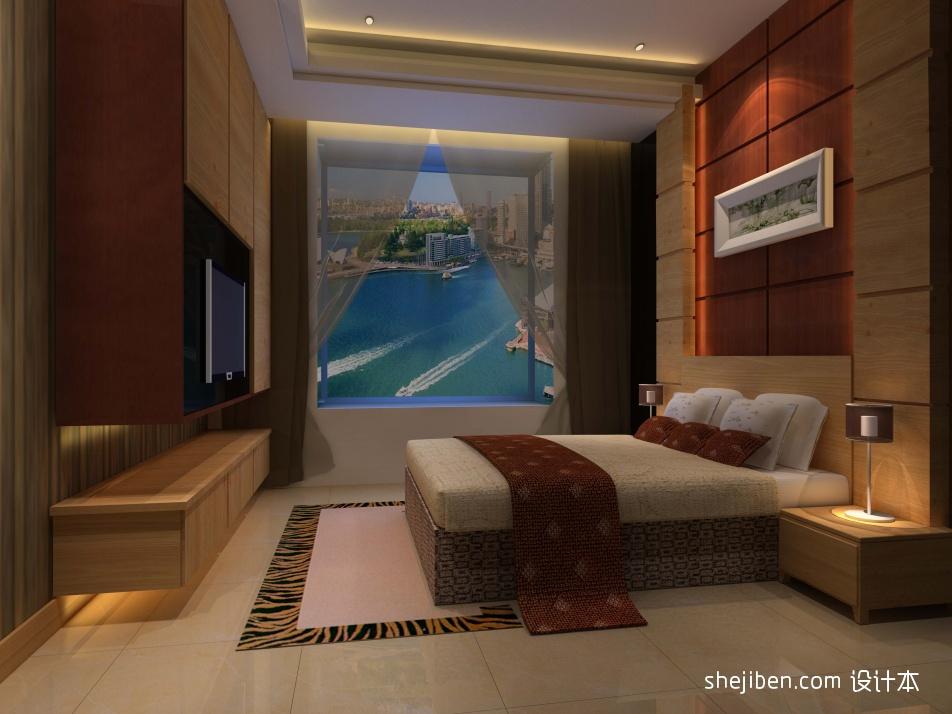 明亮339平混搭样板间卧室装饰美图卧室潮流混搭卧室设计图片赏析