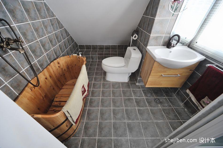 卫生间瓷砖效果图卫生间现代简约卫生间设计图片赏析