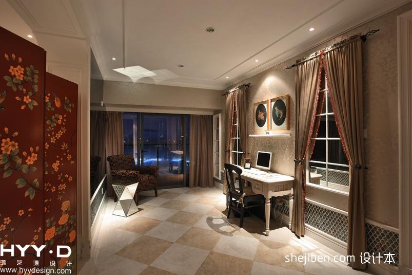 优雅644平欧式别墅效果图欣赏功能区欧式豪华功能区设计图片赏析