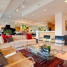 三室两厅现代简约客厅装修效果图