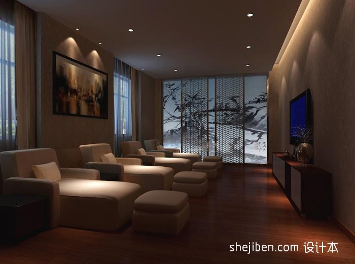 足浴养生馆包厢装修效果图酒店空间其他设计图片赏析