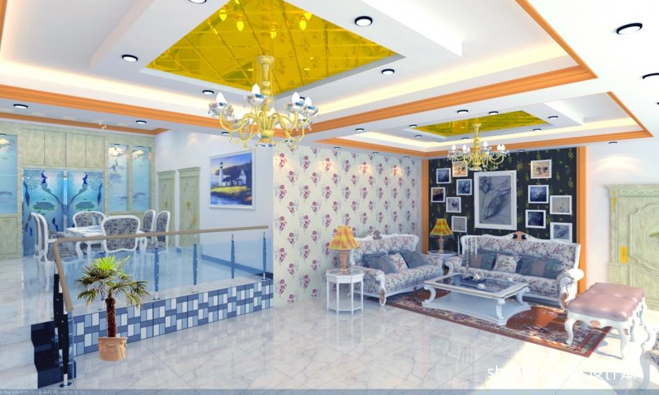 悠雅154平混搭四居客厅设计图客厅潮流混搭客厅设计图片赏析