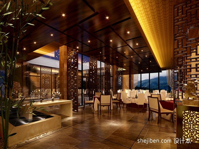 混搭风格酒店中餐厅设计效果图酒店空间其他设计图片赏析