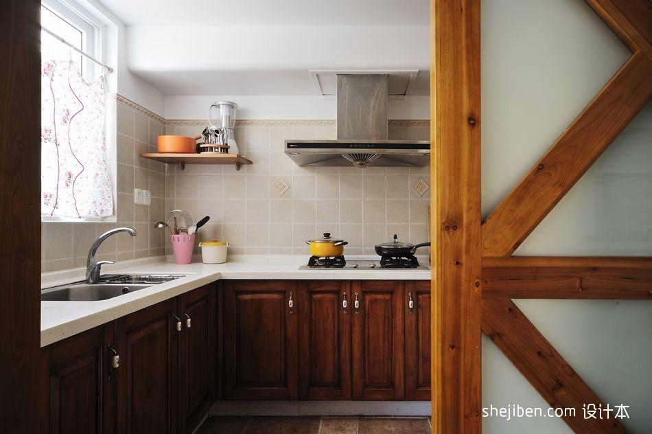 面积86平小户型厨房地中海效果图片欣赏餐厅地中海厨房设计图片赏析