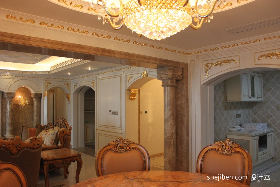 温馨327平混搭样板间客厅实拍图客厅潮流混搭客厅设计图片赏析