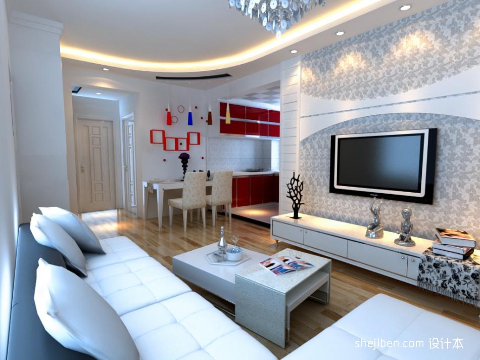华丽32平混搭小户型客厅设计图客厅潮流混搭客厅设计图片赏析