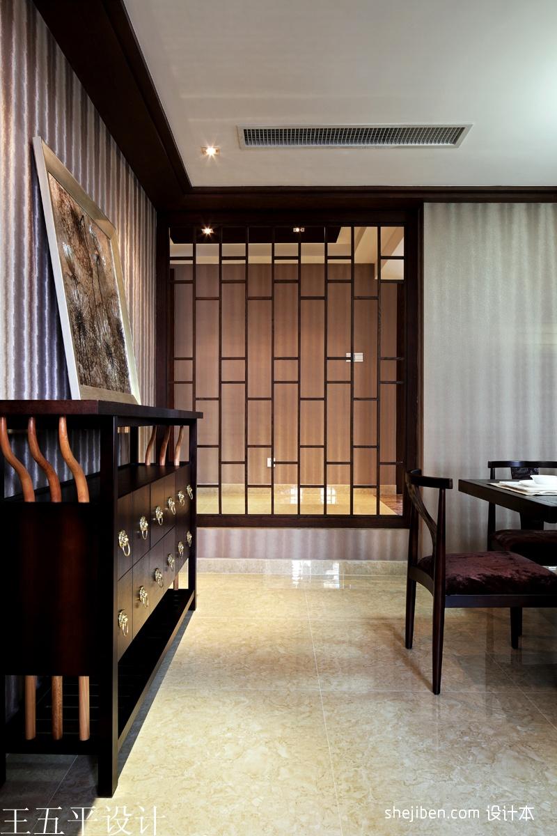 深圳集信名城样板房设计中式餐厅装饰柜装修效果图设计图片赏析