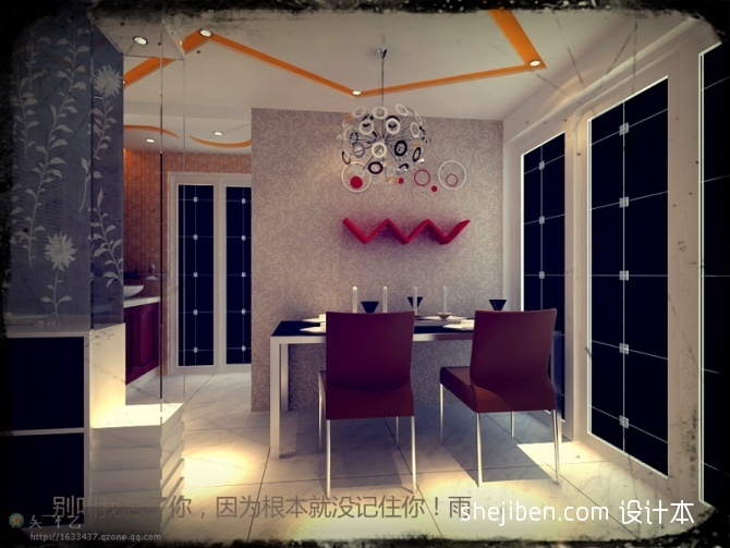 餐厅设计方案厨房潮流混搭餐厅设计图片赏析
